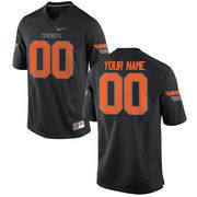 Nike Mens Oklahoma State Cowboys Custom Replica Football Jersey - Black