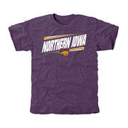 Men's Purple Northern Iowa Panthers Double Bar Tri-Blend T-Shirt