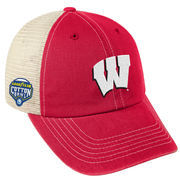 Men's Top of the World Red Wisconsin Badgers 2017 Cotton Bowl Bound Trucker Adjustable Hat