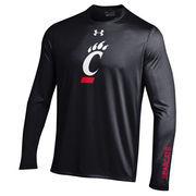 Men's Under Armour Black Cincinnati Bearcats MVP Logo Tech Long Sleeve T-Shirt