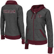 Women's Adult Colosseum Charcoal Texas A&M Aggies Velocity Cowl Neck Full Zip Jacket