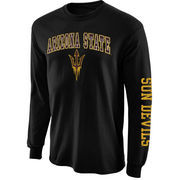Mens Arizona State Sun Devils Black Arch & Logo Long Sleeve T-Shirt