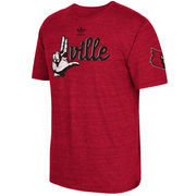 Men's adidas Red Louisville Cardinals Local Tri-Blend T-Shirt