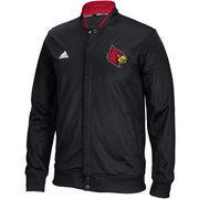 Men's adidas Black Louisville Cardinals 2015-2016 Player On-Court Full Snap Jacket
