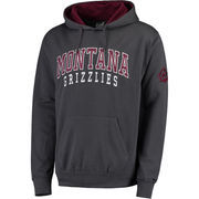 Men's Colosseum Charcoal Montana Grizzlies Double Arch Pullover Hoodie