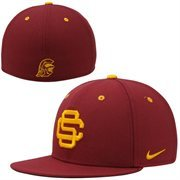 Nike USC Trojans True Colors Authentic Performance Fitted Hat - Cardinal