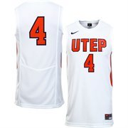 Mens UTEP Miners No. 4 Nike White Replica Jersey