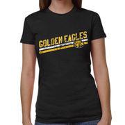 Southern Miss Golden Eagles Women's Rising Bar Tri-Blend T-Shirt - Black