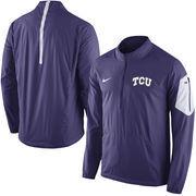 Men's Nike Purple TCU Horned Frogs 2015 Football Coaches Sideline Half-Zip Wind Jacket