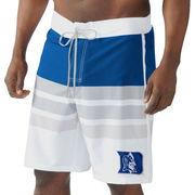 Men's G-III Sports by Carl Banks Royal/White Duke Blue Devils Center Field Swim Trunks