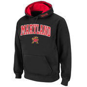 Men's Stadium Athletic Black Maryland Terrapins Arch & Logo Pullover Hoodie