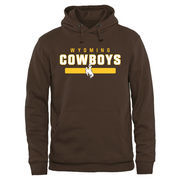 Brown Wyoming Cowboys Team Strong Pullover Hoodie