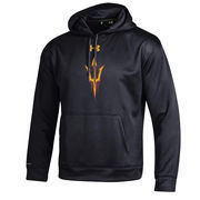Men's Under Armour Black Arizona State Sun Devils Big Logo Storm Performance Pullover Hoodie