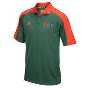 Men's adidas Green/Orange Miami Hurricanes 2016 Football Coaches Sideline climalite Polo