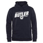 Men's Navy Butler Bulldogs Double Bar Pullover Hoodie