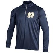 Men's Under Armour Navy Notre Dame Fighting Irish 1/4 Zip Performance Top