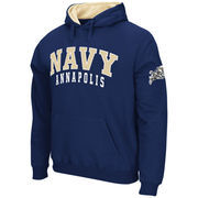 Men's Stadium Athletic Navy Navy Midshipmen Double Arches Pullover Hoodie