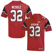 Eric Weddle Utah Utes No. 32 Replica College Jersey - Red