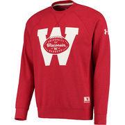 Men's Under Armour Red Wisconsin Badgers Iconic Performance Sweatshirt
