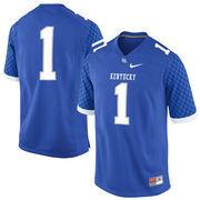 #1 Kentucky Wildcats Nike Replica Football Jersey - Royal Blue