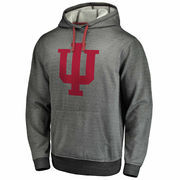 Men's Gray Indiana Hoosiers Performance Pullover Hoodie