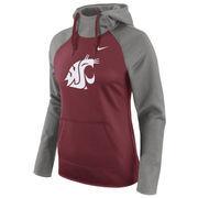 Women's Nike Crimson Washington State Cougars Tailgate All-Time Pro Raglan Hoodie
