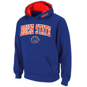 Men's Stadium Athletic Royal Boise State Broncos Arch & Logo Pullover Hoodie