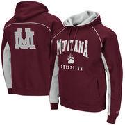 Men's Colosseum Maroon Montana Grizzlies Crest Pullover Hoodie