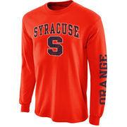 Mens Syracuse Orange Orange Arch & Logo Long Sleeve T-Shirt