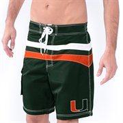 Men's Green Miami Hurricanes Ace Swim Trunks