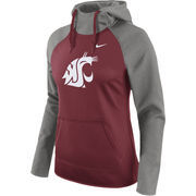 Women's Nike Crimson Washington State Cougars Tailgate All-Time Pro Raglan Hoodie