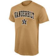 Mens Gold Vanderbilt Commodores Arch Over Logo T-Shirt