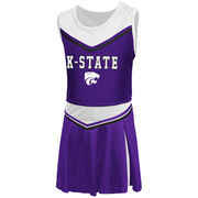 Girls Toddler Colosseum Purple Kansas State Wildcats Aerial Cheer Set