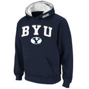 Men's Stadium Athletic Navy BYU Cougars Arch & Logo Pullover Hoodie