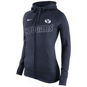 Women's Nike Navy BYU Cougars Stadium Game Day KO Full Zip Therma-FIT Hoodie