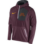 Men's Nike Maroon Minnesota Golden Gophers 2016 Sideline Vapor Fly Rush Half-Zip Pullover Jacket