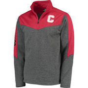 Men's Colosseum Charcoal/Red Cornell Big Red Top Gun Quarter-Zip Pullover Jacket