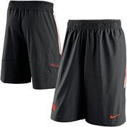 Men's Nike Black Oregon State Beavers Sideline Player Speed Vent Shorts