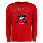 Men's Red UNLV Rebels Campus Icon Long Sleeve T-Shirt