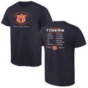 Men's Navy Auburn Tigers 2016 Football Schedule T-Shirt