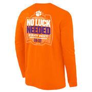 Men's Orange Clemson Tigers vs. Notre Dame 2015 Score Long Sleeve T-Shirt
