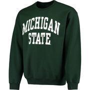 Men's Fanatics Branded Green Michigan State Spartans Basic Arch Sweatshirt