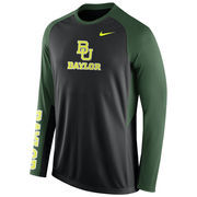 Nike Black Baylor Bears 2015-2016 Elite Basketball Pre-Game Shootaround Long Sleeve Dri-FIT Top