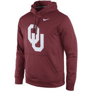 Men's Nike Crimson Oklahoma Sooners Practice Performance Hoodie