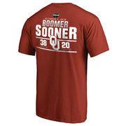 Men's Fanatics Branded Crimson Oklahoma Sooners vs. Oklahoma State Cowboys 2016 Score T-Shirt