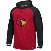 Men's adidas Red Louisville Cardinals 2016 Sideline Player climawarm Hoodie