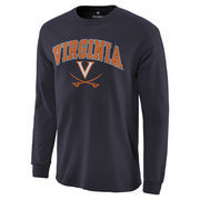 Men's Navy Virginia Cavaliers Campus Long Sleeve T-Shirt