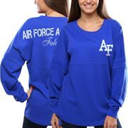 Women's Air Force Falcons Blue Pom Pom Jersey Oversized Long Sleeve T-Shirt