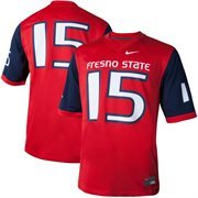 Men's Nike #15 Red Fresno State Bulldogs Game Jersey