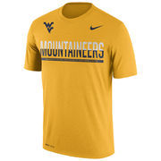 Men's Nike Gold West Virginia Mountaineers 2016 Staff Sideline Dri-FIT Legend T-Shirt